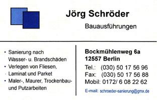 Jörg Schröder Bauausführungen